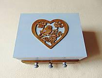Krabičky - Šperkovnica so zrkadlom Štebotalo vtáča - 10877169_
