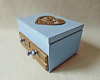 Krabičky - Šperkovnica so zrkadlom Štebotalo vtáča - 10877170_