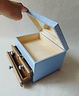 Krabičky - Šperkovnica so zrkadlom Štebotalo vtáča - 10877174_