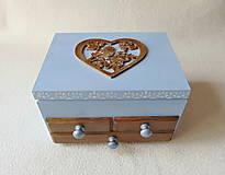 Krabičky - Šperkovnica so zrkadlom Štebotalo vtáča - 10877176_
