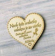 Drobnosti - Srdiečko pre učiteľa  (magnetka) - 10876690_
