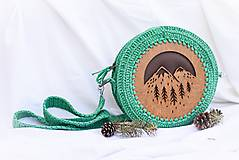 Kabelky - Hačkovano - drevená kabelka (Príroda) - 10877326_