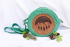 Kabelky - Hačkovano - drevená kabelka (Príroda) - 10877330_
