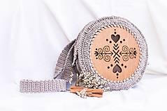 Kabelky - Hačkovano - drevená kabelka (Čičmanca) - 10877331_