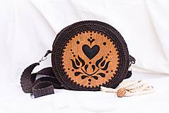 Kabelky - Hačkovano - drevená kabelka (Srdce) - 10877342_