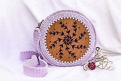 Hačkovano - drevená kabelka (Levanduľa)