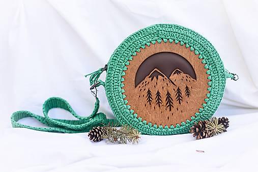 Hačkovano - drevená kabelka (Príroda)
