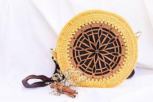 Hačkovano - drevená kabelka (Slnečnica)