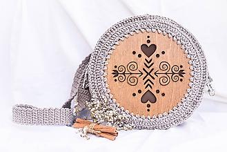 Kabelky - Hačkovano - drevená kabelka (Čičmanca) - 10877332_