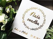 Papiernictvo - Svadobná kniha hostí Bubble Wreath s menami - 10876588_