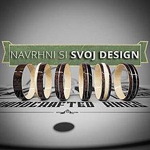 Prstene - Navrhni si SVOJ DESIGN drevených obrúčok - 10877127_