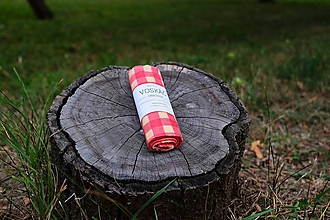Úžitkový textil - Voskovaný obrúsok Voskáč - milovník chleba 53x43 cm (tradičnô) - 10877917_