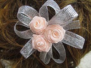 Ozdoby do vlasov - sponka do vlasov s ružičkami - 10876746_