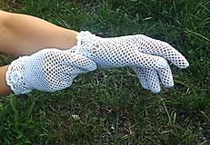 Rukavice - Biele rukavičky pre nevestu - 10875971_