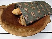 Úžitkový textil - voskované vrecko-šedé - 10876740_