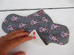 Úžitkový textil - nočná látková vložka-šedá,biobavlna - 10875133_