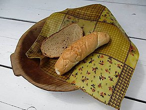 Úžitkový textil - voskovaný obrúsok-žltý - 10876677_
