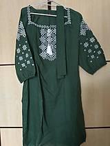 Šaty - Ľanové šaty so skrytými vreckami - 10875630_