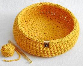 Košíky - Handmade košík z kvalitných šnúr malý - 10878130_