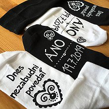 Obuv - Maľované ponožky pre ženícha (sada 2 párov) - 10876325_
