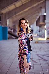 Šaty - Kvetované kimono - 10877276_