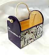 Pomôcky - drevený stojan levanduľa - 10878285_