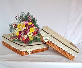 Košíky - Košík škoricový JANETTE / ks - 10876022_