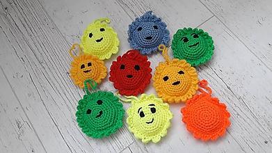 Hračky - slniečko- prívesok-dekorácia (Modrá) - 10875772_