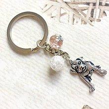 Kľúčenky - Crystal Dog Keychain / Kľúčenka s príveskami - 10879355_