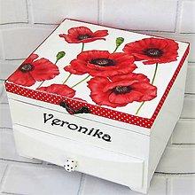 Krabičky - Šperkovnica s venovaním-maky - 10879850_
