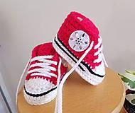 Topánočky - Malinové tenisky s kvetinkou - 10880617_