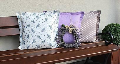 Úžitkový textil - sada obliečok na vankúše Levanduľa (3ks) - 10881170_