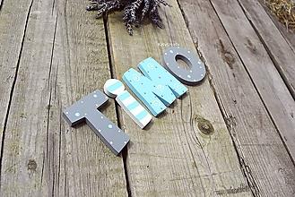 Tabuľky - drevené písmenká - 10879842_