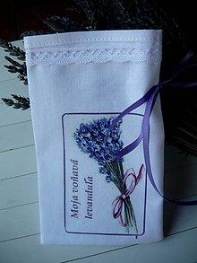 Úžitkový textil - Vrecúška na levanduľu - 10878963_