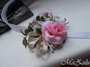 Náramky - svadobný náramok pre družičku - 10879370_