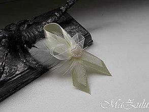 Pierka - svadobné pierko  s perím - 10881235_