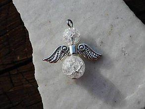 Náhrdelníky - angels (krištáľ anjel-prívesok na krk) - 10881364_