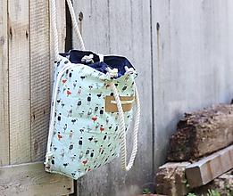 Veľké tašky - Obrovská taška oblečené vtáčiky - 10880546_