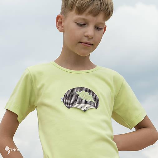 tričko limetkové JEŽKO 86 - 134 (dlhý aj krátky rukáv)