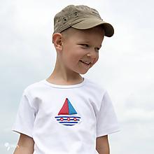 Detské oblečenie - tričko LOĎKA 86 - 134 (dlhý aj krátky rukáv) - 10880260_