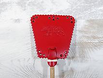 Dekorácie - Malá plácačka na muchy - červená - mucha - 10880079_