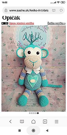 Hračky - Pán Monkey - 10880075_