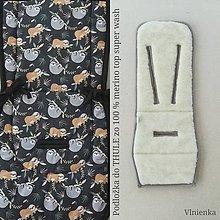 Textil - VLNIENKA podložka do kočíka THULE 100% MERINO wool  LEŇOCHOD - 10878631_