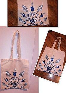 Nákupné tašky - Ručne maľovaná bavlnená taška - 10879311_