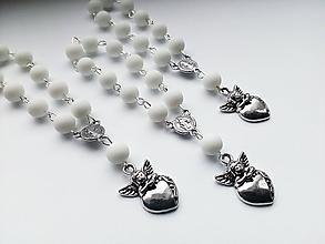 Iné šperky - Ruženec v bielej farbe - Anjel - 10880049_