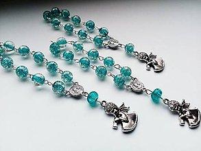 Iné šperky - Ruženec - modrý - Anjel - 10880056_