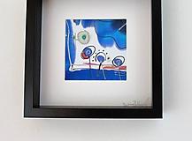 Obrazy - maľba na hodváb -obrazy MODRÁ LÚKA - 10879308_