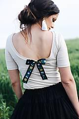 Tričká - Elegantný top na dojčenie s mašľou - 10879347_