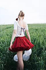 Tričká - Elegantný top na dojčenie s mašľou - 10879348_
