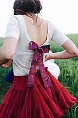 Tričká - Elegantný top na dojčenie s mašľou - 10879349_